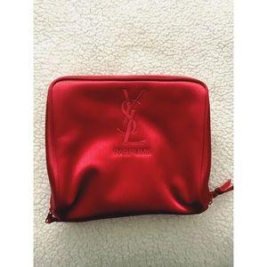YSL Red Makeup Bag